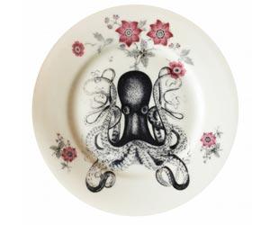 Vintage bord octopus - Vintage aan de muur