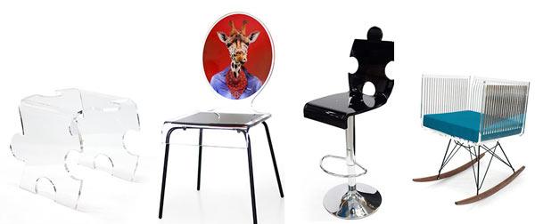 collage - Plexiglas meubels