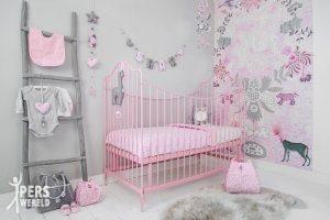Unieke kinderkamer marcelineke - Kinderkamer grijs en roze ...