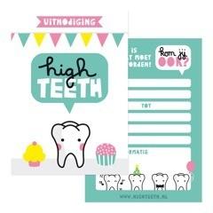 Highteeth NL kaartjes 2 - Tandenfeestje thuis of op school