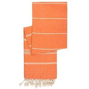 hamamdoek katoen pompoen oranje19mg - Extra lange fairtrade hamamdoeken