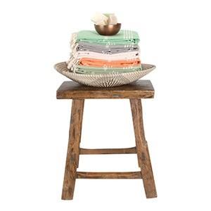 hamamdoeken op krukmg - Extra lange fairtrade hamamdoeken