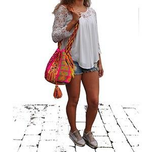 lizzy mochila wayuu susu model ibiza style boho hip zomers 2 lo 2mg - Wayuu Mochila bag
