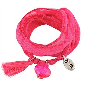 rakhi by jozemiek pink flamb 100 zijde wikkelarmbandmg - Rakhi armband by Jozemiek
