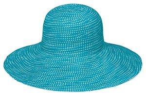 wallaroo hoed scrunchie turquoise white dotsmg 300x211 - Zomerse hoedjes van UV-fashions