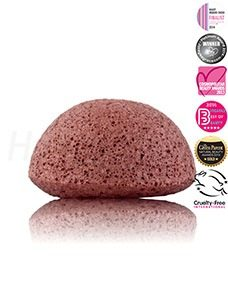 Konjac Sponge Facial Puff French Red Claymg 228x300 - Hippe, eco reinigingsproducten