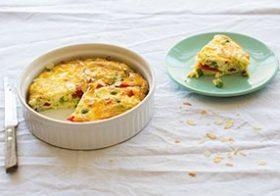 Recept Frittata met paprika en feta