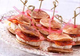 Hapjesidee: Blini's met Chorizo