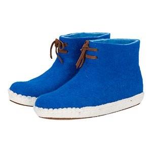 vilten damesslof high boots blue marcelineke - Tijd voor fairtrade vilten sloffen