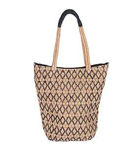 tas van jute noor indigo marcelineke 277x300 - Handgeweven, stijlvol en fairtrade: Tulsi Crafts