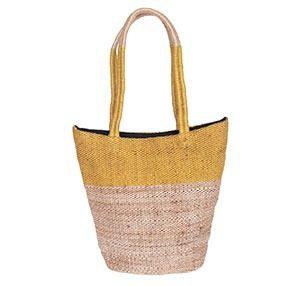 tas van jute selina oker marcelineke 300x286 - Handgeweven, stijlvol en fairtrade: Tulsi Crafts