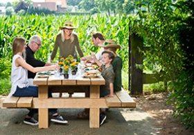 Onverwoestbare picknicktafel
