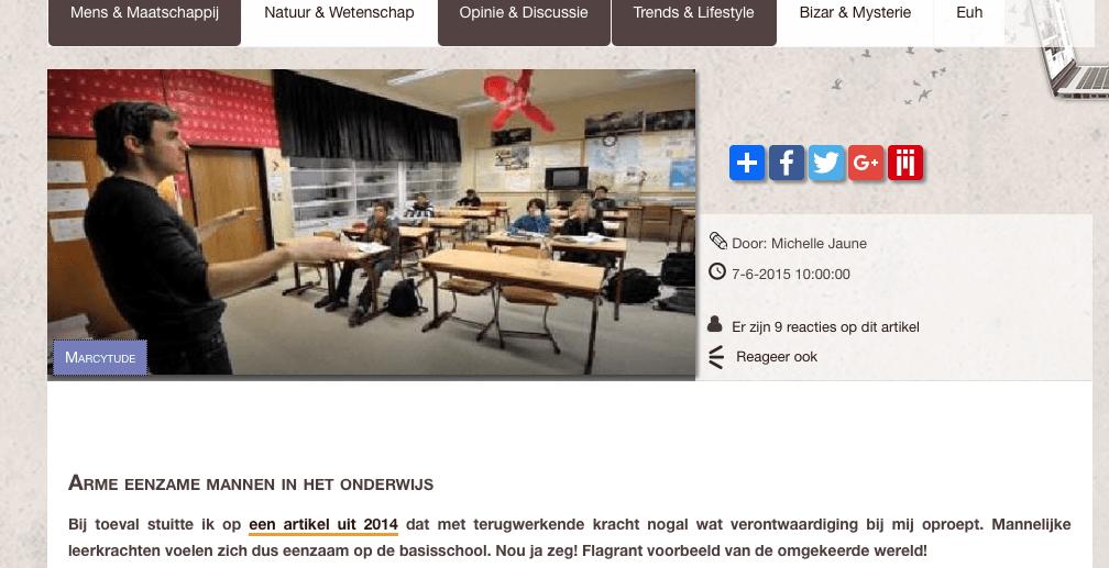 Schermafbeelding 2017 03 14 om 22.30.41 - Arme eenzame mannen in het onderwijs